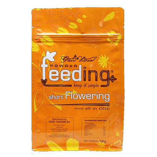 Green House Powder Feed - Short Flower 1kg bag